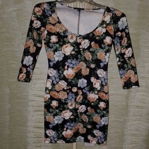 Floral forever 21 bodycon dress